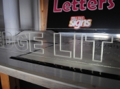 Edge lit engraved acrylic