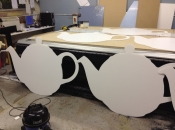 Giant teapots cut from 10mm correx