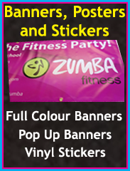 Full colour banners, pop up banners, vinyl stickers, Chorley, Wigan, Preston, Lancashire