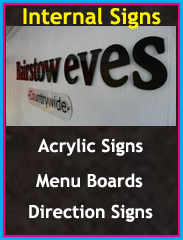 Acrylic Signs, Menu Boards, Direction Signs, Chorley, Wigan, Preston, Lancashire